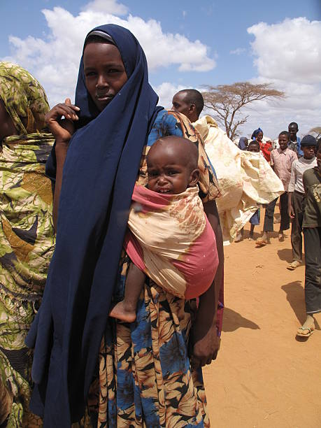 somalian refugee camp - somalia stock photos and pictures