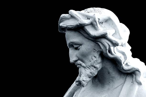 Somber Jesus Profile stock photo