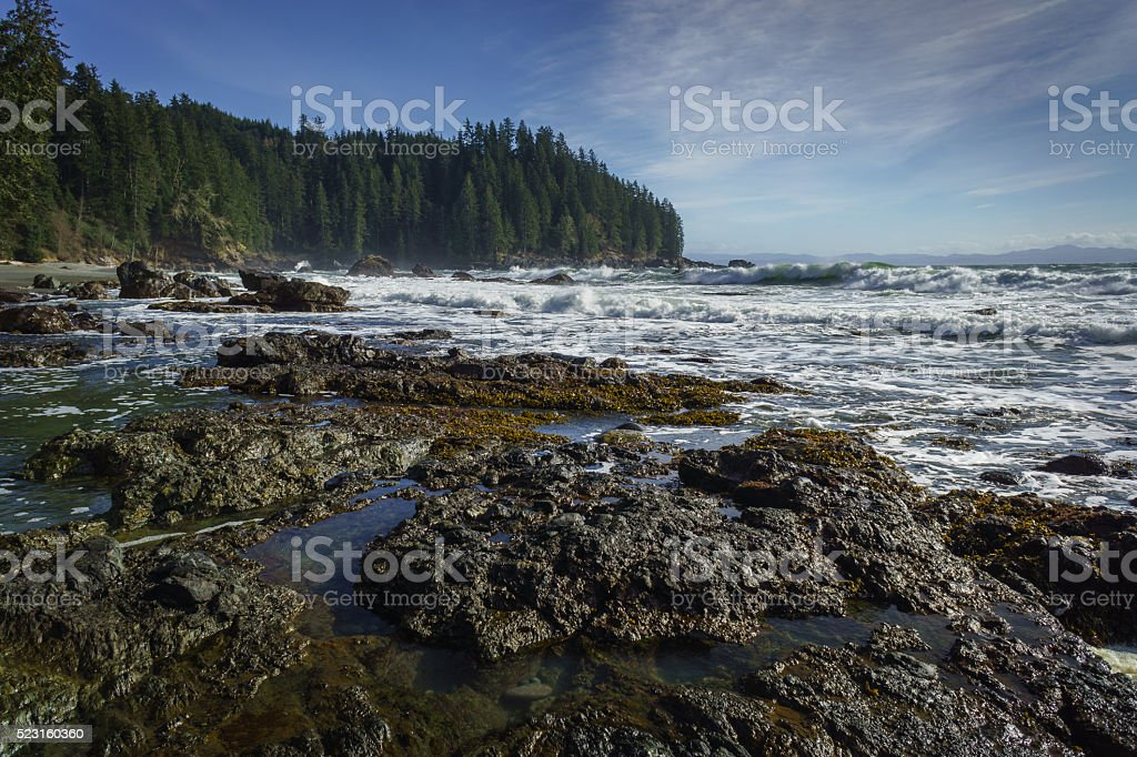 Sombrio Beach, Juan de Fuca Trail, Vancouver Island, British Col stock photo