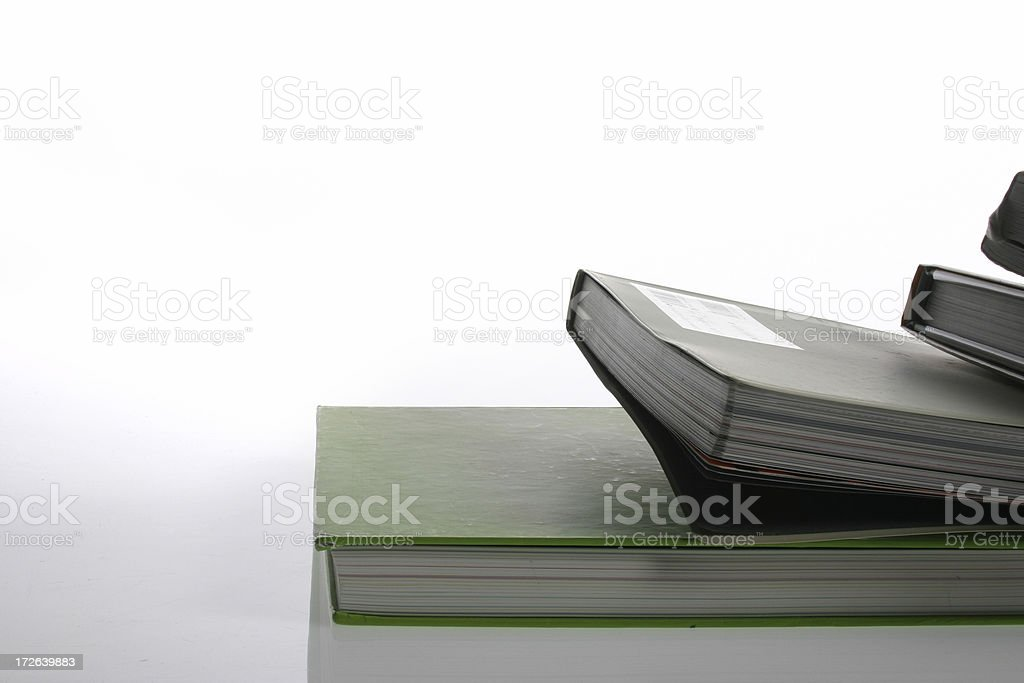 Some books royalty-free stock photo