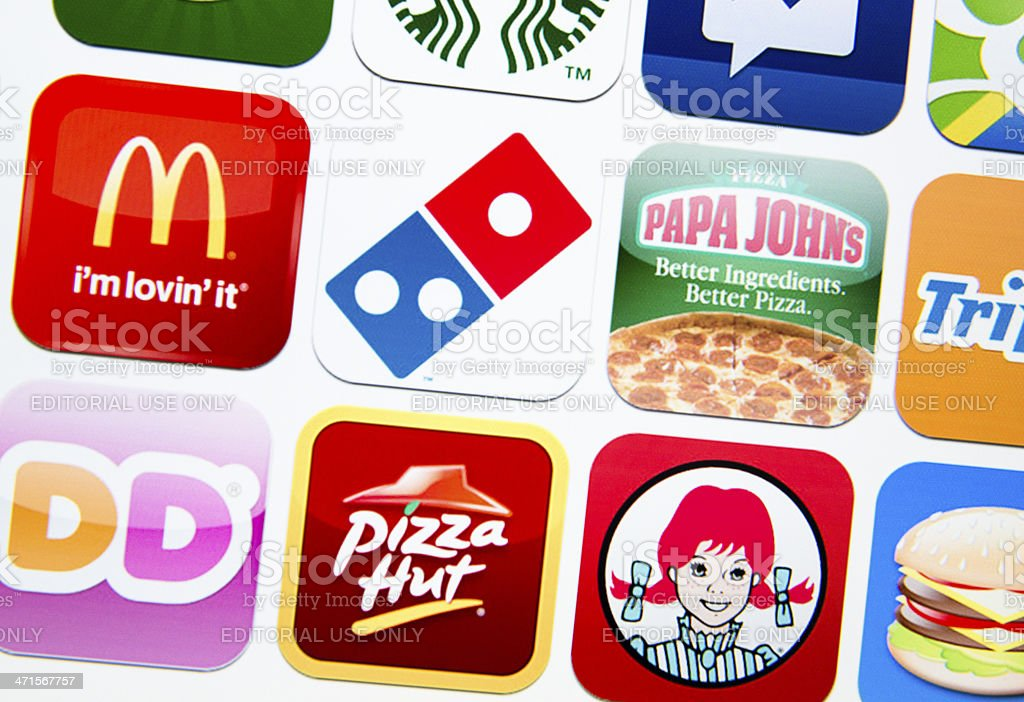 some brands logo close up stock photo