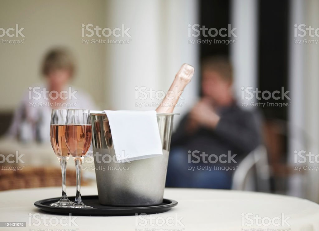 Some bubbly to commemorate the occasion! royalty-free stock photo