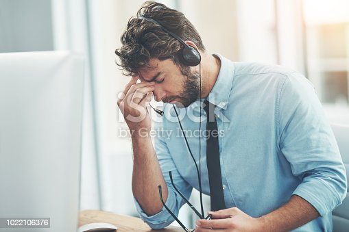 658516626 istock photo Some calls are more stressful than others 1022106376