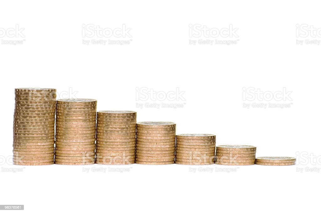 Some coins symbolize crisis royalty-free stock photo