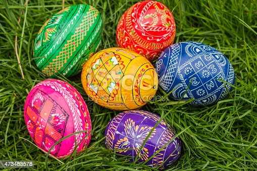 istock Some Colored Easter Eggs 473483578
