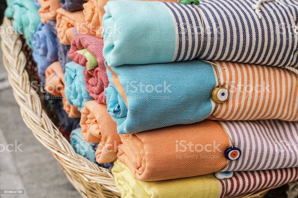 some colorful loinclothes stock photo