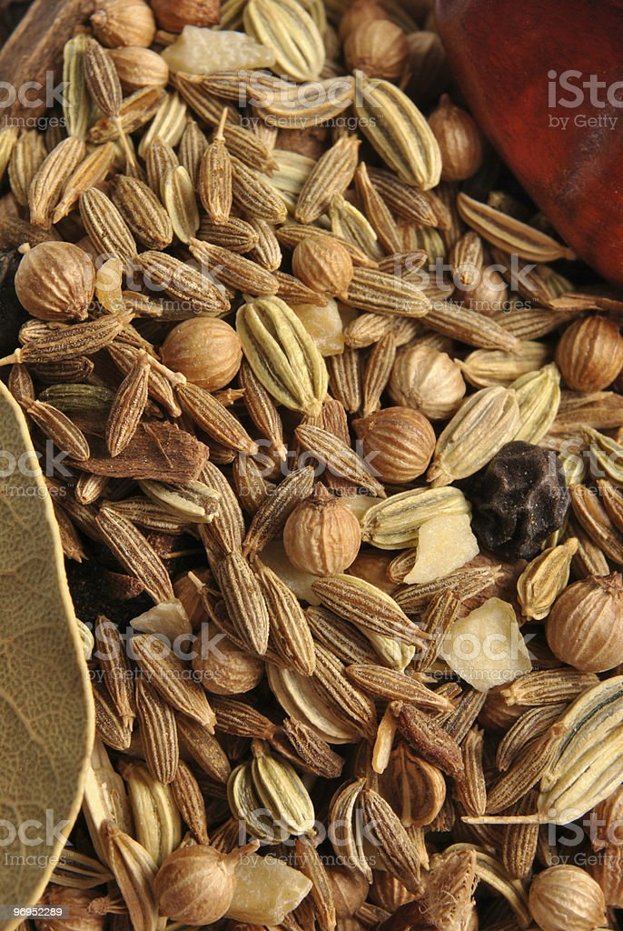 some delicious and healthy indian organic spice mix royalty-free stock photo