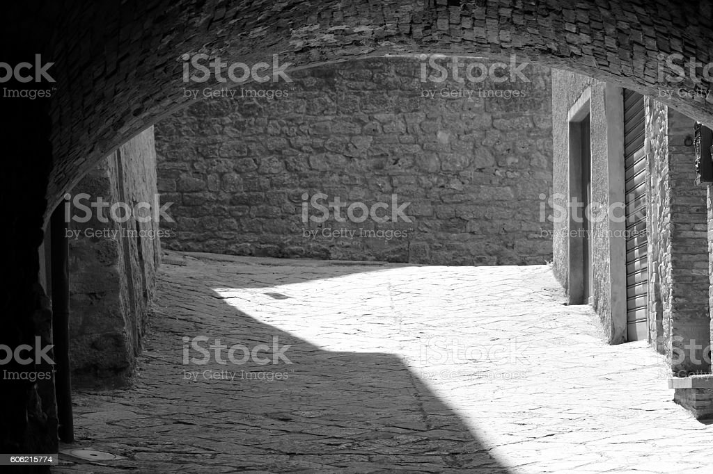 Some details of medieval Italian cities stock photo