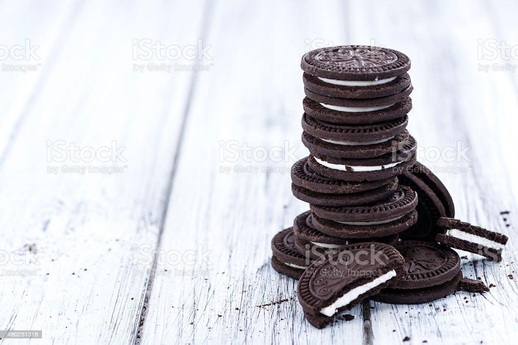 Some double Cream Cookies stock photo