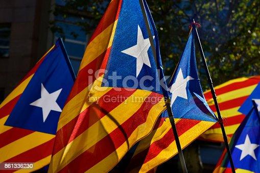 istock some estelada, the catalan pro-independence flag 861336230