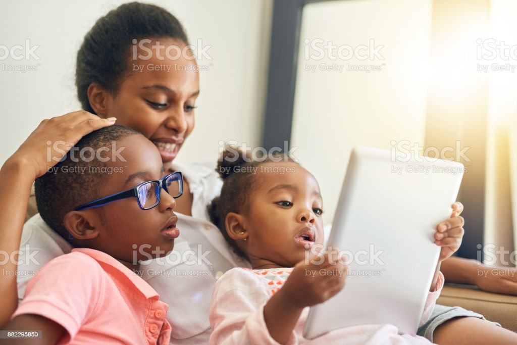 Some family down time stock photo