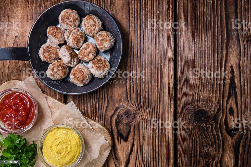 Some fresh made Meatballs stock photo