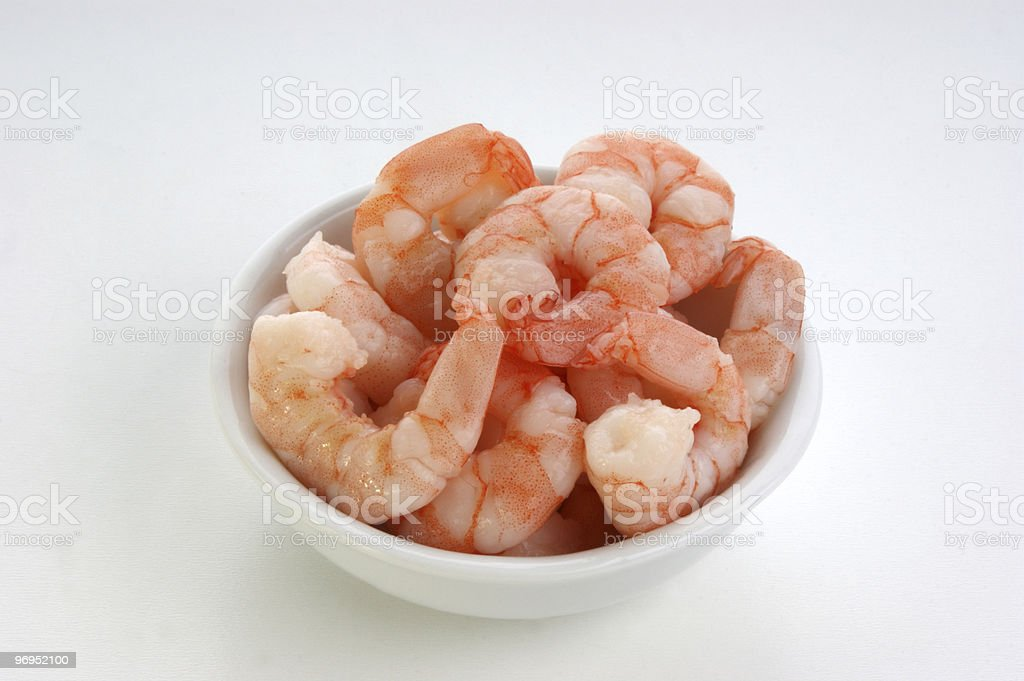 some fresh organic prawns ready to eat royalty-free stock photo