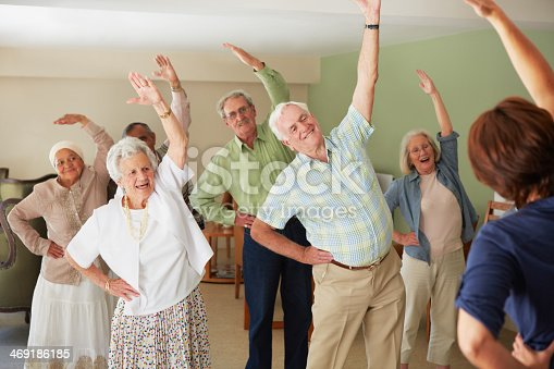 istock Some gentle stretching of their muscles 469186185
