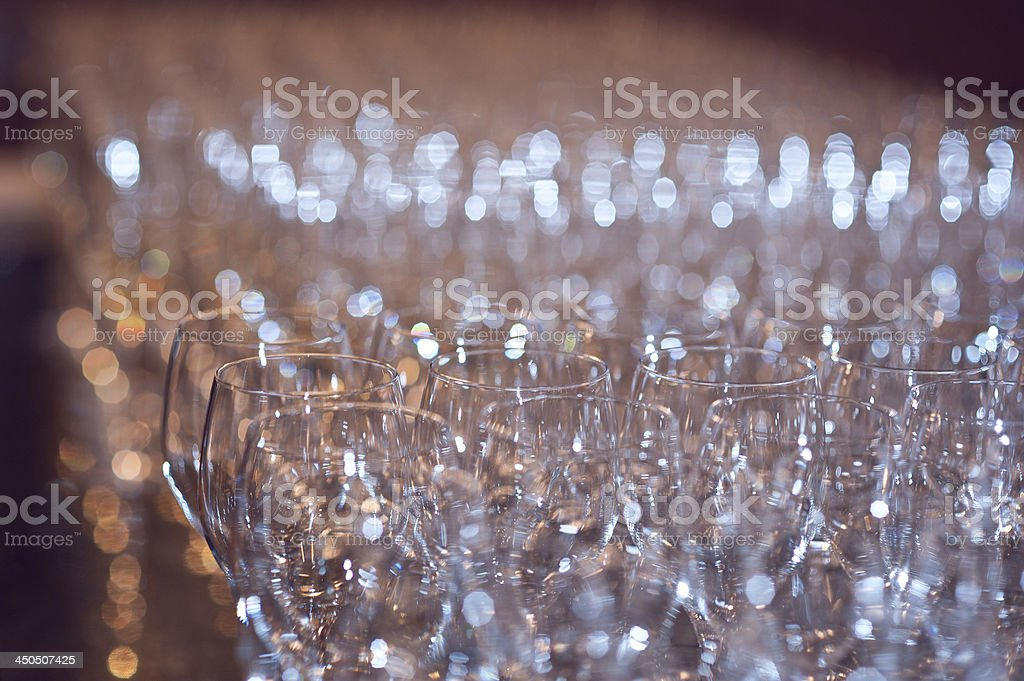Some glasses stock photo