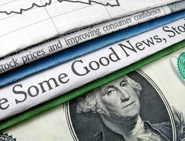 Some Good News and Currency stock photo