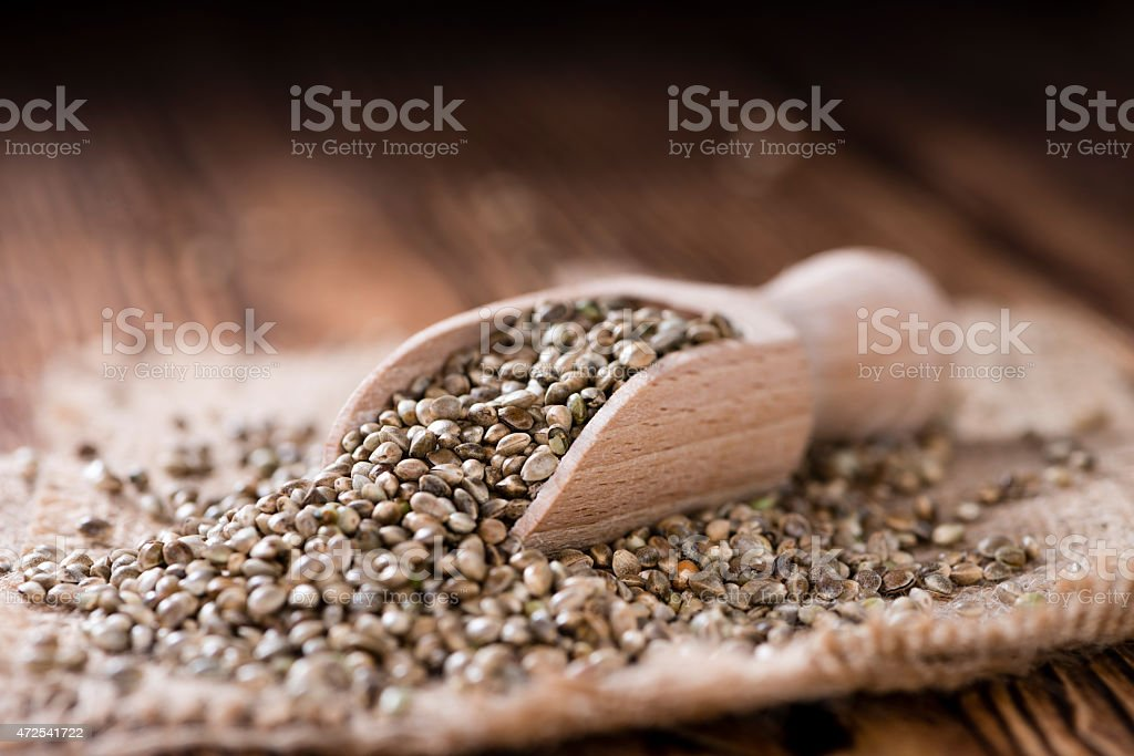Some Hemp Seeds stock photo