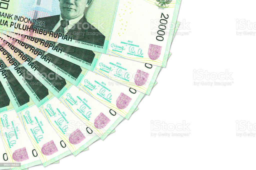 some indonesian rupiah  bank notes with copy space royalty-free stock photo