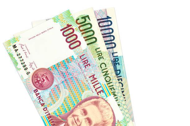 some italian lira bank notes – Foto