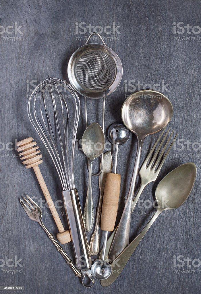 Some kitchen vintage equipment stock photo