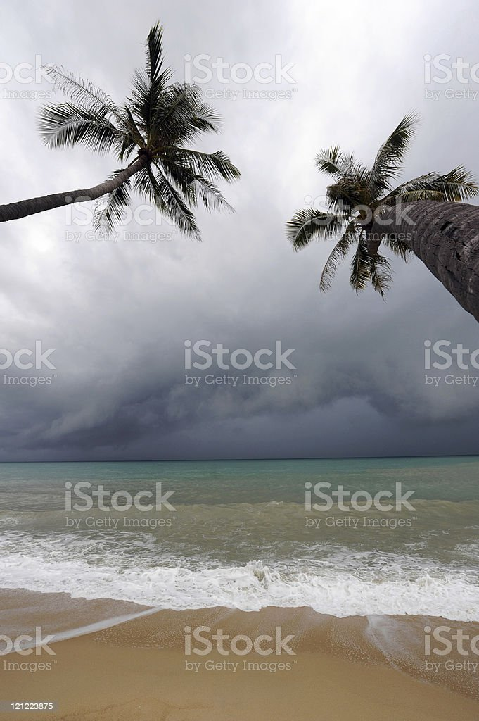 Some minutes before the Typhoon stock photo