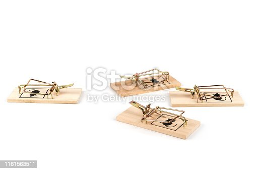 495695633 istock photo some mousetraps isolated on white 1161563511