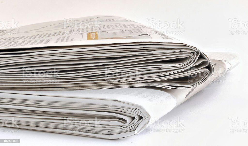 some newspapers stock photo
