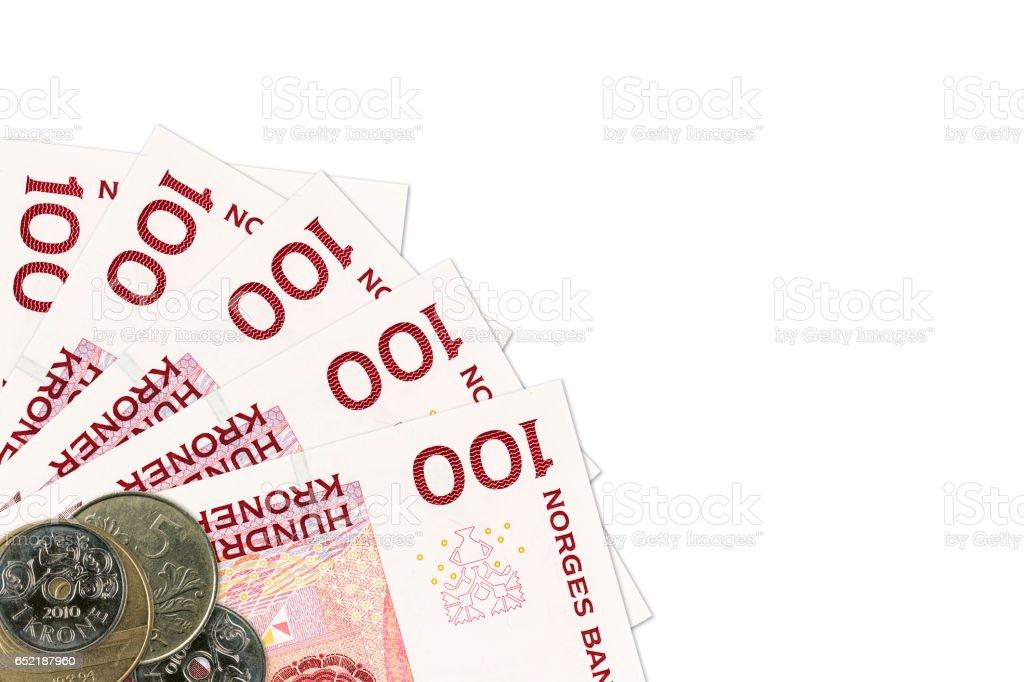 Einige Norwegische Krone 100 Banknoten Und Münzen Stockfoto Istock