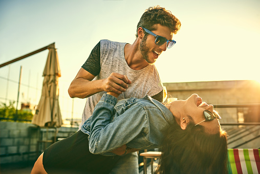 Some Of The Most Romantic Moments Are Spontaneous Stock Photo - Download Image Now