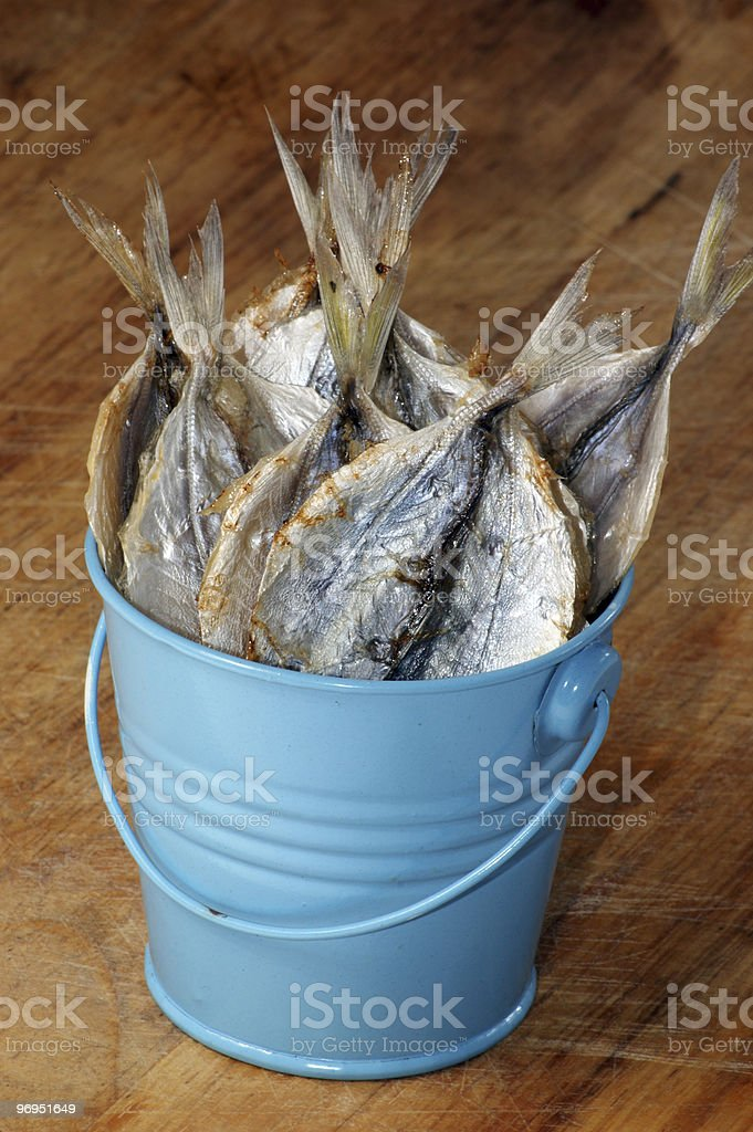 some organic and dried yellow stripe travelly royalty-free stock photo