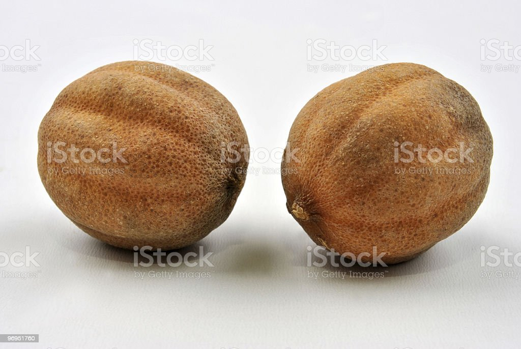 some organic dry lime and a white background royalty-free stock photo