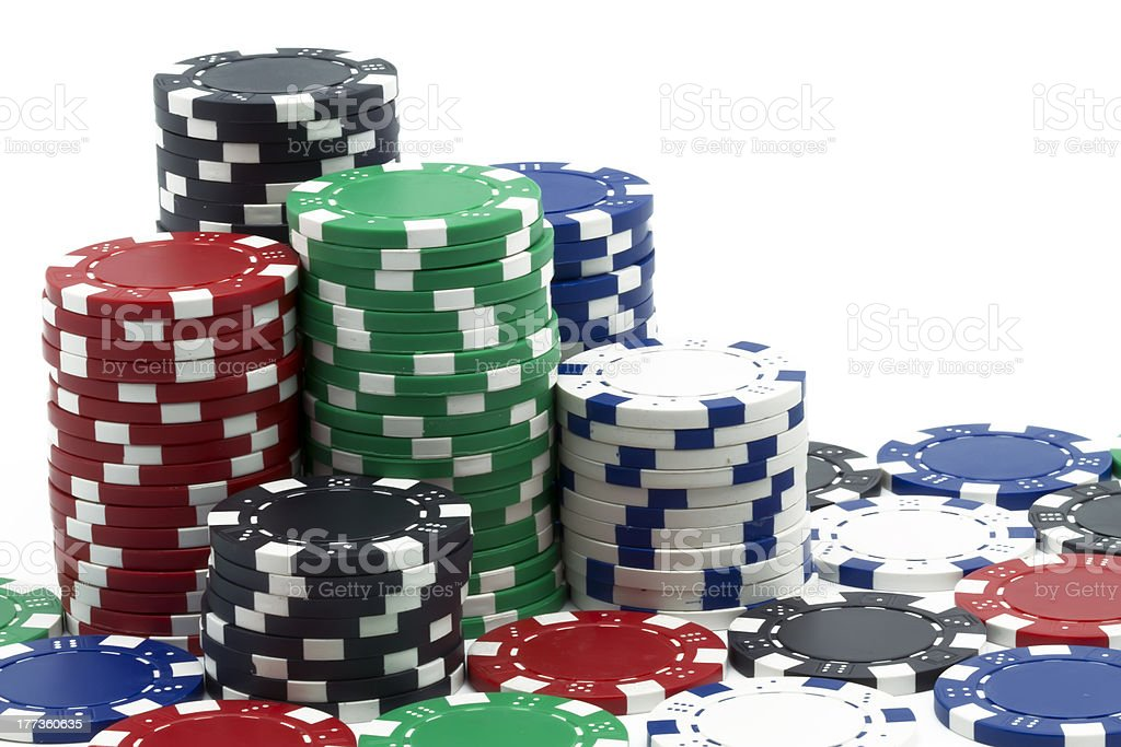 some poker tokens royalty-free stock photo