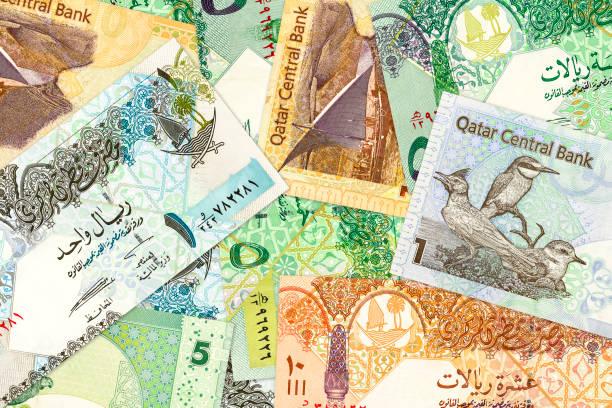 Hintergrundinformationen Banknoten Qatar riyal – Foto