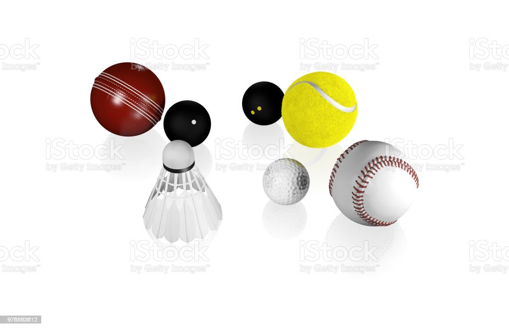 Some small Sport Balls like Tennis Golf Squash and others with a...
