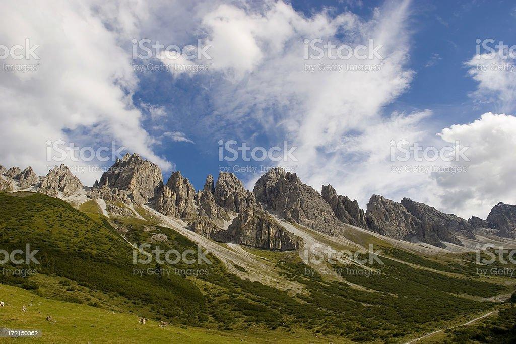 Some steep rocks stock photo