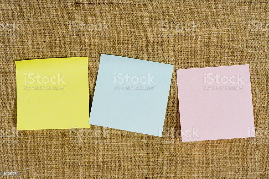 Some sticky leaflets stock photo
