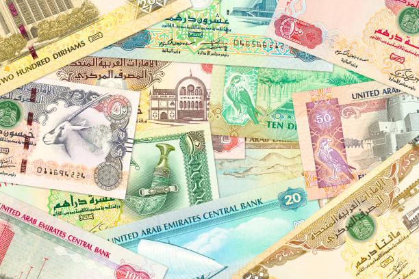 einige Banknoten der Vereinigten Arabischen Emirate dirham – Foto