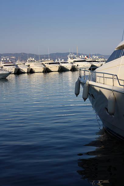 Some yachts in Puerto Banus, Marbella. stock photo