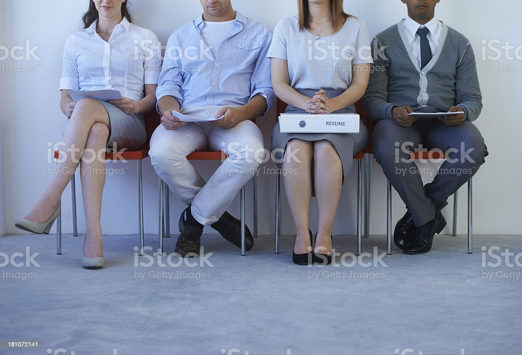Somebody came more prepared than the others... stock photo