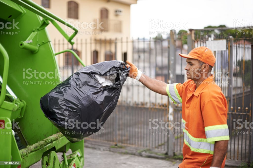 Somebody has to do it stock photo