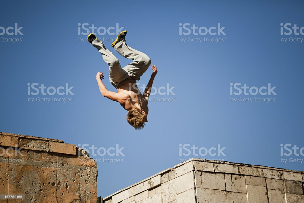 Somersault royalty-free stock photo