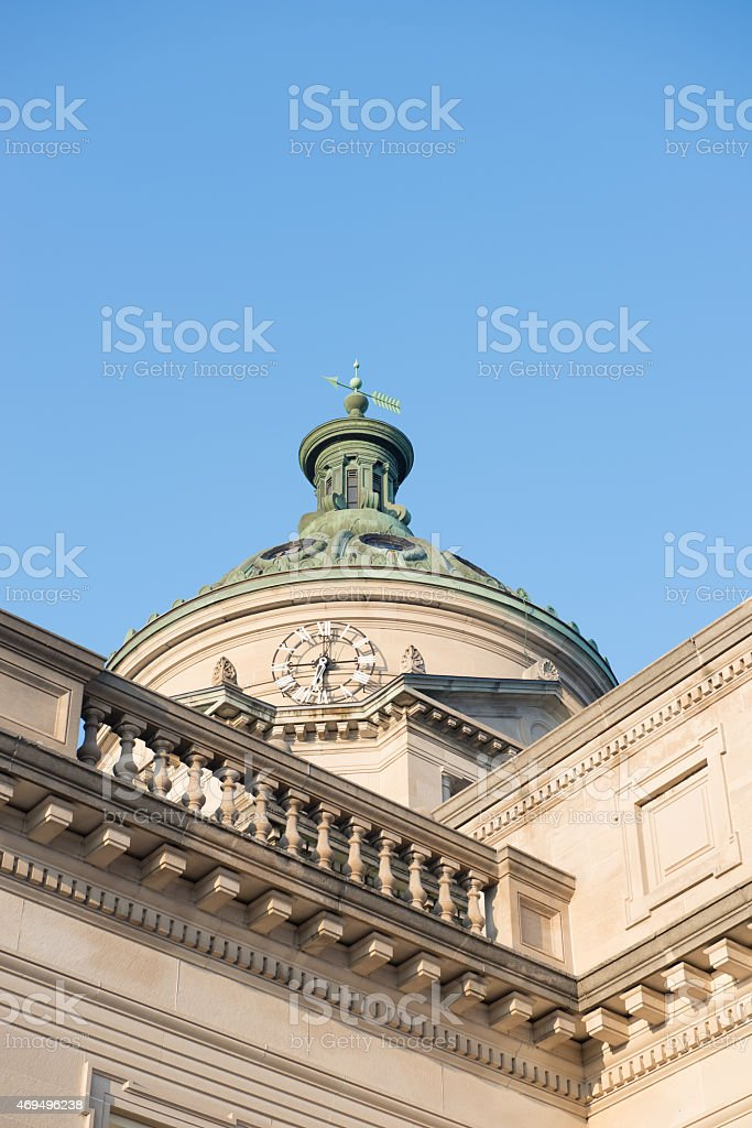 Somerset County Courthouse Pennsylvania Blue Sky Stock Photo