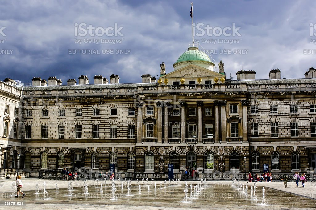 Somerset House in London. stock photo