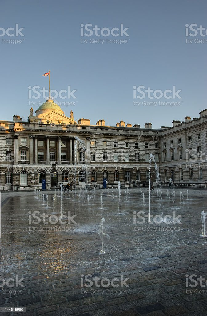 Somerset House, Sun Set stock photo
