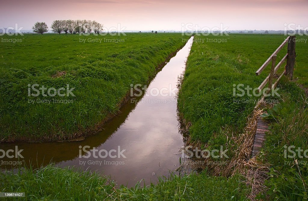 Somerset Levels in England stock photo