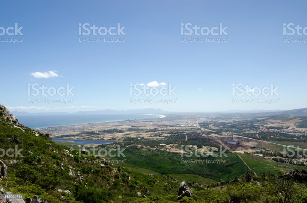 Somerset West from Sir Lowry's Pass royalty-free stock photo