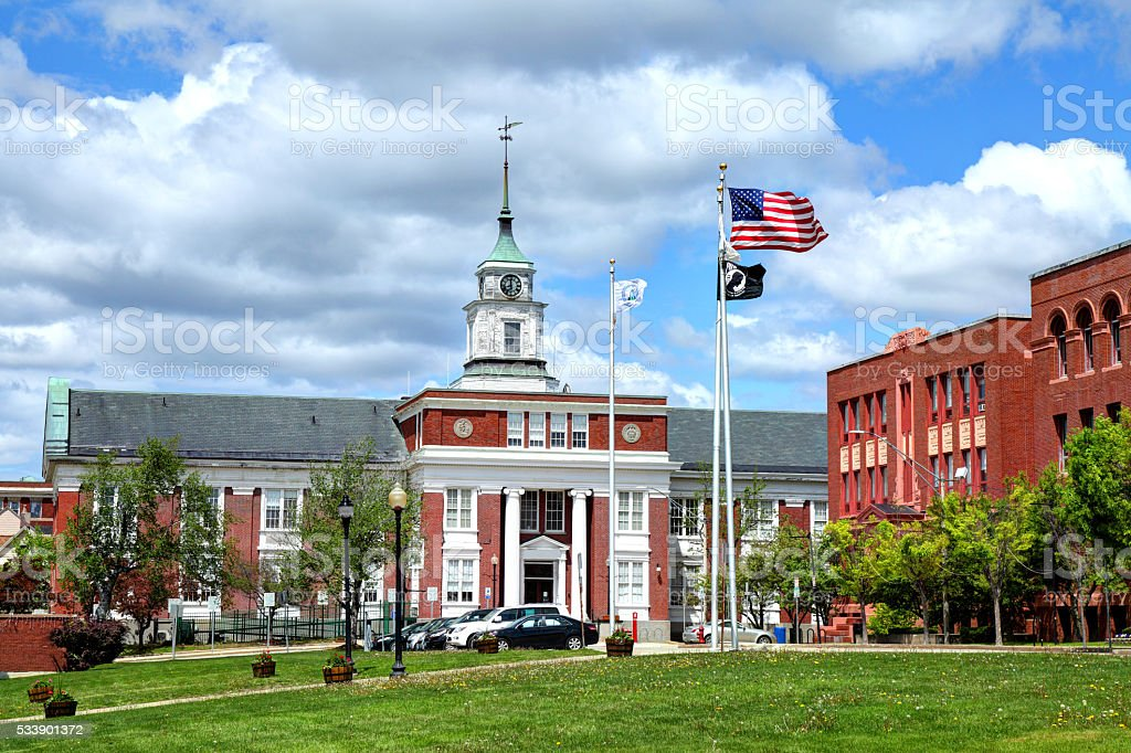 Somerville, Massachusetts City Hall stock photo