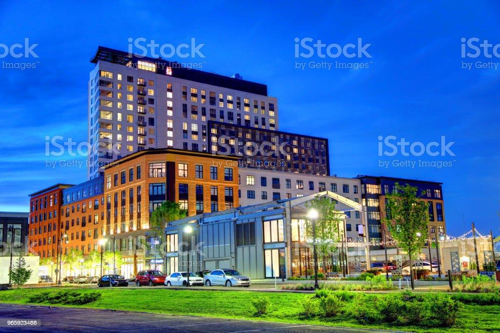 Somerville Massachusetts Skyline vergadering rij - Royalty-free Architectuur Stockfoto