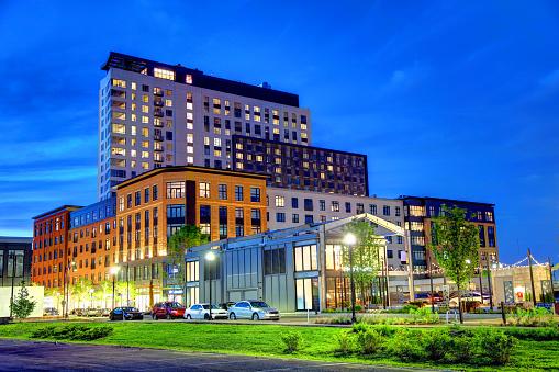 Somerville Massachusetts Skyline Vergadering Rij Stockfoto en meer beelden van Architectuur
