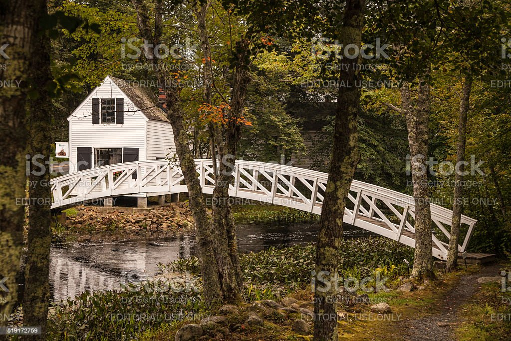 Somesville Bridge in Somesville, Maine stock photo